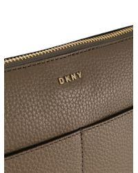 DKNY - Gray Essex Leather Crossbody Bag - Lyst