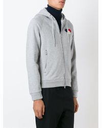 Moncler | Gray Hoodie for Men | Lyst