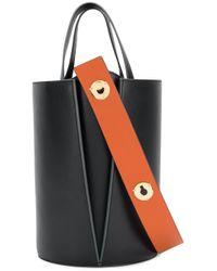 Danse Lente - Black Lorna Mini Leather Tote Bag - Lyst