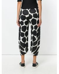 Pleats Please Issey Miyake - White Printed Trousers - Lyst