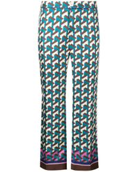 For Restless Sleepers Blue Silk Ceo Trousers