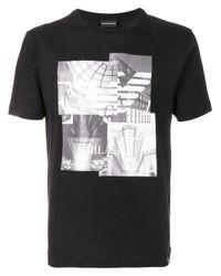 Emporio Armani - Black Cotton T-shirt for Men - Lyst