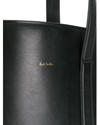 Paul Smith - Black Leather Tote Bag - Lyst