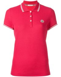 Moncler - Purple Polo Tee - Lyst