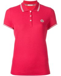 Moncler | Purple Polo Tee | Lyst