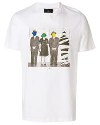 Paul Smith - White Cotton T-shirt for Men - Lyst
