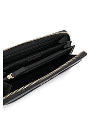 MICHAEL Michael Kors - Black Jet Set Travel Continental Saffiano Wallet - Lyst