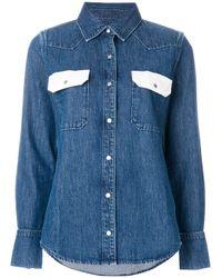Calvin Klein - Blue Cotton Jeans Shirt - Lyst
