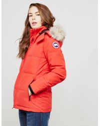 Canada Goose - Womens Chelsea Parka Jacket Red - Lyst