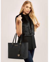Michael Kors | Jetset Travel Medium Black Tote Bag | Lyst