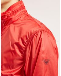 Armani Jeans - Red Nylon Funnel Neck Jacket for Men - Lyst