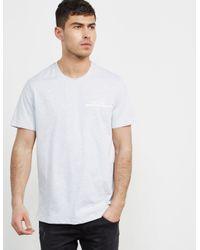 a26d0245bef9 BOSS Mens Underline Short Sleeve T-shirt Grey Marl/grey Marl in Gray ...