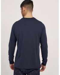 Barbour - Blue International Small Logo Long Sleeve T-shirt for Men - Lyst