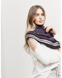 Emporio Armani - Womens Frayed Scarf - Online Exclusive Blue - Lyst