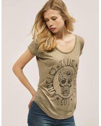 True Religion   Green Loose Skull T-shirt   Lyst