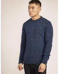 Barbour - Blue Netherby Crew Knit for Men - Lyst