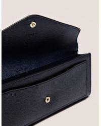 COACH - Blue Soft Wallet - Lyst