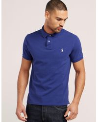 Polo Ralph Lauren - Blue Weathered Mesh Short Sleeve Polo Shirt for Men - Lyst
