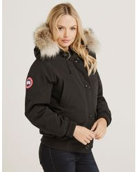 Lyst - Canada Goose Womens Chilliwack Padded Bomber Jacket Black in ... 9c4c684e3e