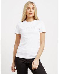 CALVIN KLEIN 205W39NYC - Womens Tanya-36 Short Sleeve T-shirt White - Lyst