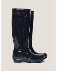 Hunter - Womens Original Tall Gloss Boot Blue/blue - Lyst