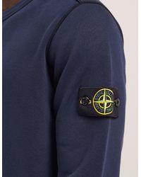 Stone Island - Blue Basic Crew Neck Sweatshirt for Men - Lyst
