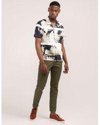 Folk - Blue Shadow Print Short Sleeve Shirt for Men - Lyst