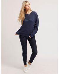 Armani Jeans - Blue Crew Neck Sweater - Lyst