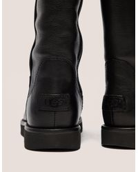 Ugg - Womens Abree Leather Boot Black - Lyst
