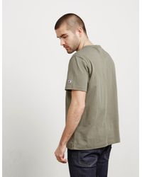 Champion - Mens Medium Logo Short Sleeve T-shirt Green for Men - Lyst