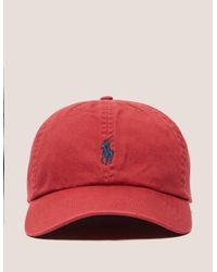 d7f8856380ff9b Lyst - Polo Ralph Lauren Classic Cap in Red for Men