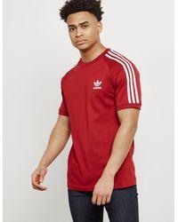 c63c2dda04a Lyst - adidas Originals Mens California Short Sleeve T-shirt Red ...