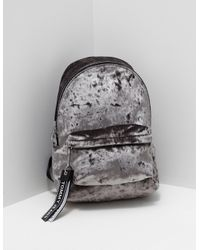 5cd524c2cc Lyst - Tommy Hilfiger Velvet Backpack Grey in Gray