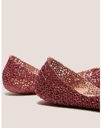 Melissa - Pink X Campana Glitter Shoe - Lyst