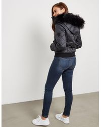 Juicy Couture - Womens Padded Hood Jacket Black - Lyst
