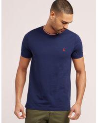 Polo Ralph Lauren - Blue Tipped Short Sleeve T-shirt for Men - Lyst