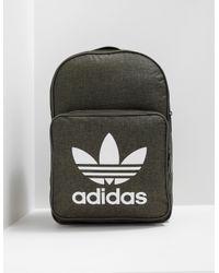 Lyst - Adidas Originals Mens Classic Trefoil Backpack Olive in Green ... 954e2880af