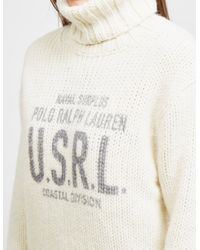 Polo Ralph Lauren - Natural Logo Graphic Turtleneck Sweater - Lyst