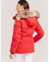 Canada Goose - Red Chelsea Parka Jacket - Lyst