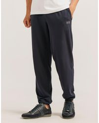 BOSS - Blue Cuff Pant for Men - Lyst