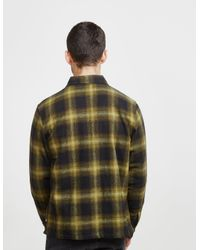 Stussy - Mens Zip Up Plaid Shirt Green for Men - Lyst