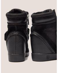 Armani Jeans - Black High Top Wedge Sneakers - Lyst