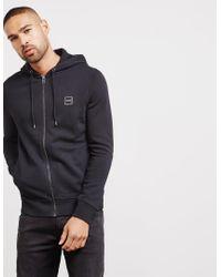 6bea624d BOSS Znacks Full Zip Hoodie Black in Black for Men - Lyst