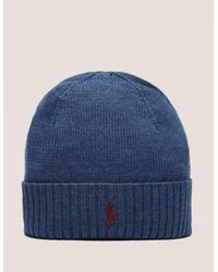Polo Ralph Lauren | Blue Classic Merino Beanie for Men | Lyst
