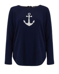 Cocoa Cashmere - Blue Star & Anchor Cashmere Jumper - Lyst