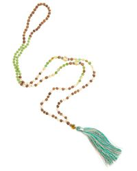 TRIBE + FABLE - Metallic Single Tassel Necklace - Lyst