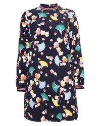Essentiel Antwerp - Blue Rosemary Printed Dress - Lyst
