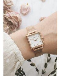 Olivia Burton - Pink Midi Square Dial Watch - Lyst