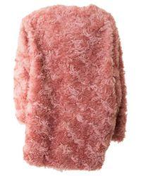 Stella McCartney - Elina Pink Mohair Blend Coat - Lyst
