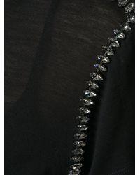 N°21 - Black No21 T-shirt Con Decorazione Cristallo - Lyst